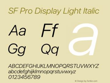 SF Pro Display Light Italic Version 15.0d5e5图片样张