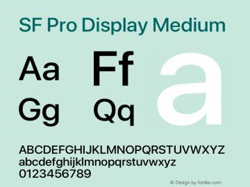 SF Pro Display Medium Version 15.0d5e5图片样张