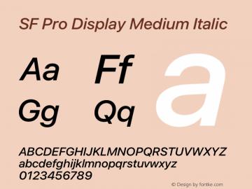 SF Pro Display Medium Italic Version 15.0d5e5图片样张