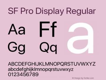 SF Pro Display Regular Version 15.0d5e5图片样张