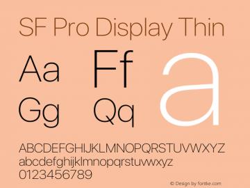 SF Pro Display Thin Version 15.0d5e5图片样张