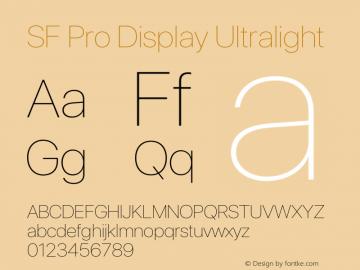 SF Pro Display Ultralight Version 15.0d5e5图片样张