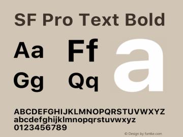 SF Pro Text Bold Version 15.0d5e5图片样张