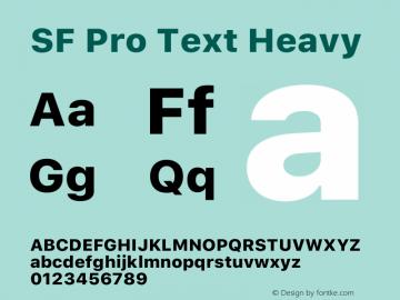 SF Pro Text Heavy Version 15.0d5e5图片样张