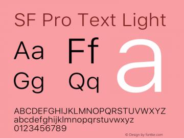 SF Pro Text Light Version 15.0d5e5图片样张