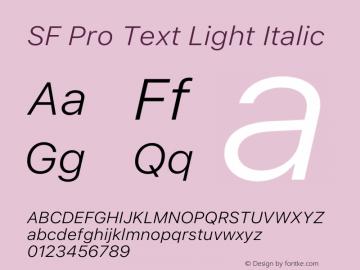 SF Pro Text Light Italic Version 15.0d5e5图片样张