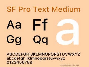 SF Pro Text Medium Version 15.0d5e5图片样张