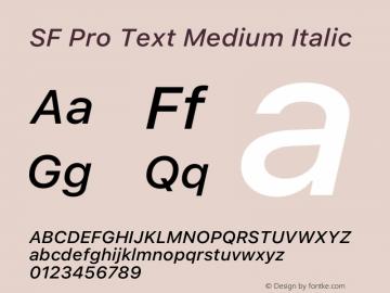 SF Pro Text Medium Italic Version 15.0d5e5图片样张