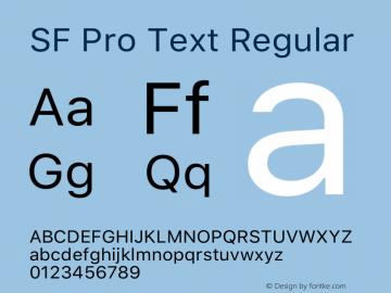 SF Pro Text Regular Version 15.0d5e5图片样张