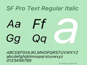 SF Pro Text Italic Version 15.0d5e5图片样张