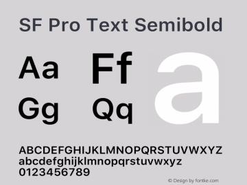 SF Pro Text Semibold Version 15.0d5e5图片样张