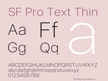 SF Pro Text Thin Version 15.0d5e5图片样张