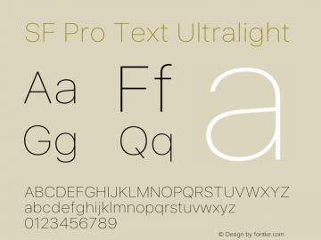 SF Pro Text Ultralight Version 15.0d5e5图片样张