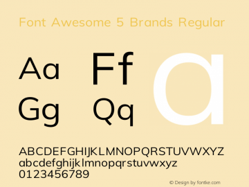 Font Awesome 5 Brands Regular 330.240 (Font Awesome version: 5.10.0)图片样张