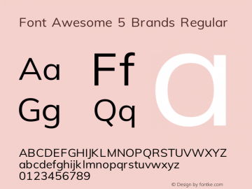 Font Awesome 5 Brands Regular 330.242 (Font Awesome version: 5.10.2)图片样张
