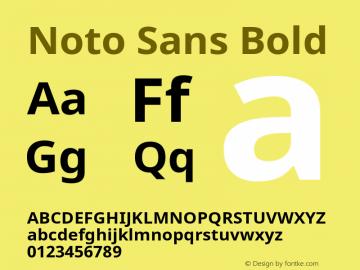 Noto Sans Bold Version 1.04图片样张