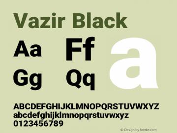 Vazir Black Version 21.0.0图片样张