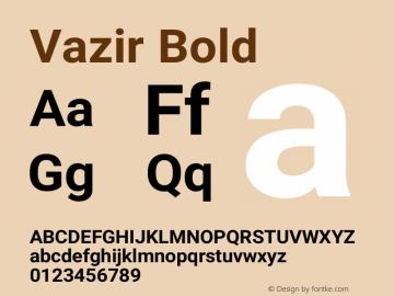 Vazir Bold Version 21.0.0图片样张
