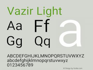 Vazir Light Version 21.0.0图片样张