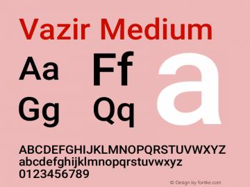 Vazir Medium Version 21.0.0图片样张