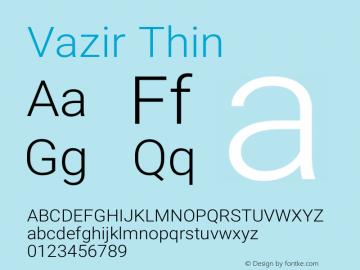 Vazir Thin Version 21.0.0图片样张