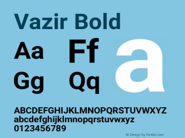 Vazir Bold Version 21.0.1图片样张