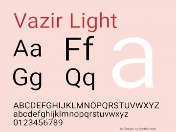 Vazir Light Version 21.0.1图片样张