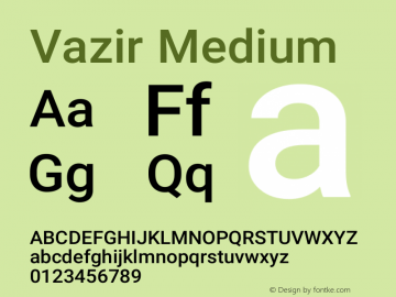 Vazir Medium Version 21.0.1图片样张