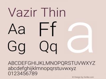Vazir Thin Version 21.0.1图片样张