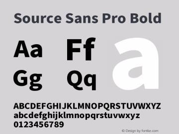 Source Sans Pro Bold Version 3.006;hotconv 1.0.111;makeotfexe 2.5.65597图片样张