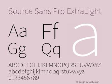 Source Sans Pro ExtraLight Version 3.006;hotconv 1.0.111;makeotfexe 2.5.65597图片样张