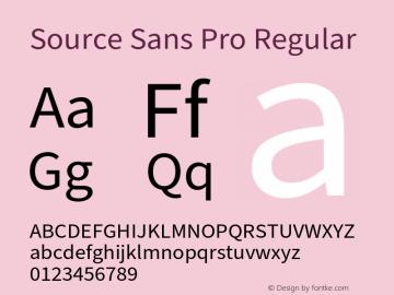Source Sans Pro Version 3.006;hotconv 1.0.111;makeotfexe 2.5.65597图片样张