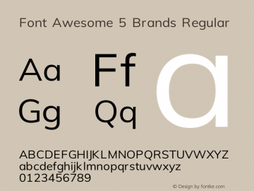 Font Awesome 5 Brands Regular 330.498 (Font Awesome version: 5.11.2)图片样张