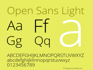 Open Sans Light Version 2.000图片样张