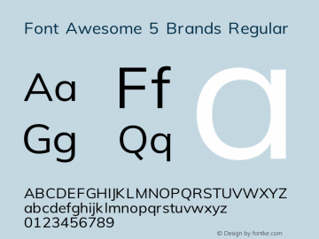 Font Awesome 5 Brands Regular 330.496 (Font Awesome version: 5.11.0)图片样张