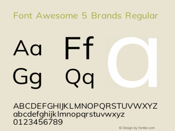 Font Awesome 5 Brands Regular 330.497 (Font Awesome version: 5.11.1)图片样张