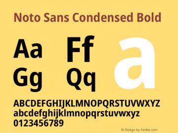 Noto Sans Condensed Bold Version 2.001图片样张