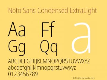 Noto Sans Condensed ExtraLight Version 2.001图片样张