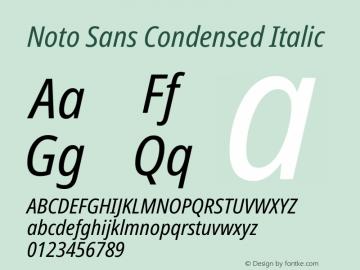 Noto Sans Condensed Italic Version 2.001图片样张