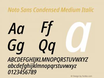 Noto Sans Condensed Medium Italic Version 2.001图片样张