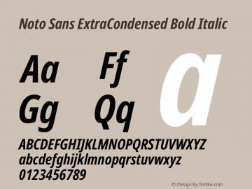Noto Sans ExtraCondensed Bold Italic Version 2.001图片样张