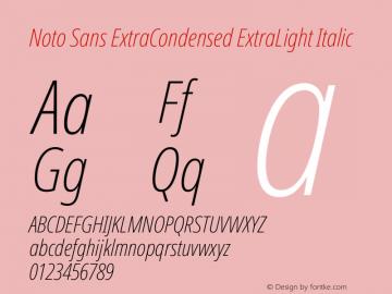 Noto Sans ExtraCondensed ExtraLight Italic Version 2.001图片样张