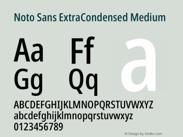 Noto Sans ExtraCondensed Medium Version 2.001图片样张