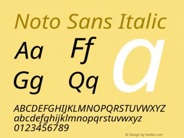 Noto Sans Italic Version 2.001图片样张