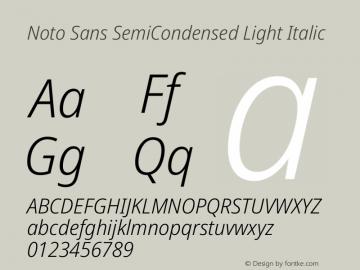 Noto Sans SemiCondensed Light Italic Version 2.001图片样张