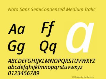 Noto Sans SemiCondensed Medium Italic Version 2.001图片样张