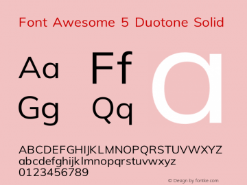 Font Awesome 5 Duotone Solid 330.497 (Font Awesome version: 5.11.1)图片样张