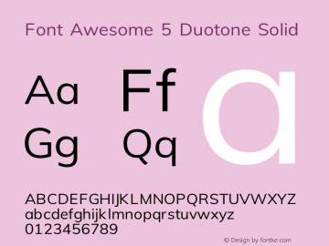 Font Awesome 5 Duotone Solid 330.497 (Font Awesome version: 5.11.2)图片样张