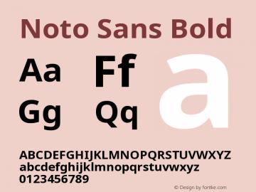 Noto Sans Bold Version 2.001图片样张
