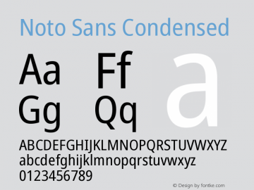 Noto Sans Condensed Version 2.001图片样张